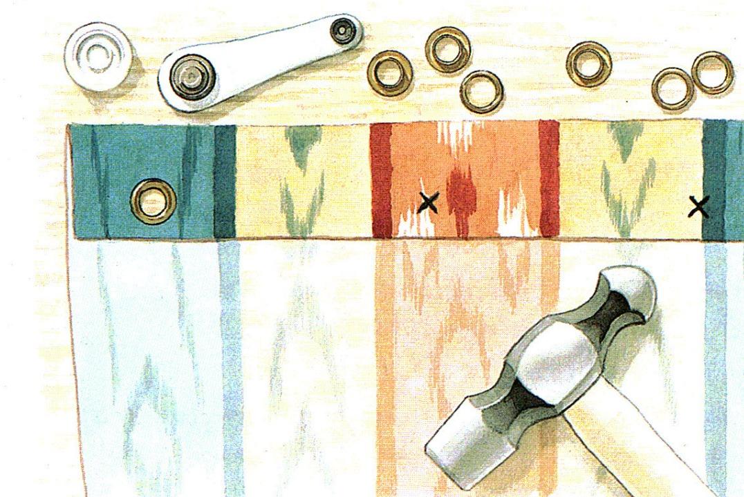 Patrones de costura visillos con lazos for Poner ganchos cortinas