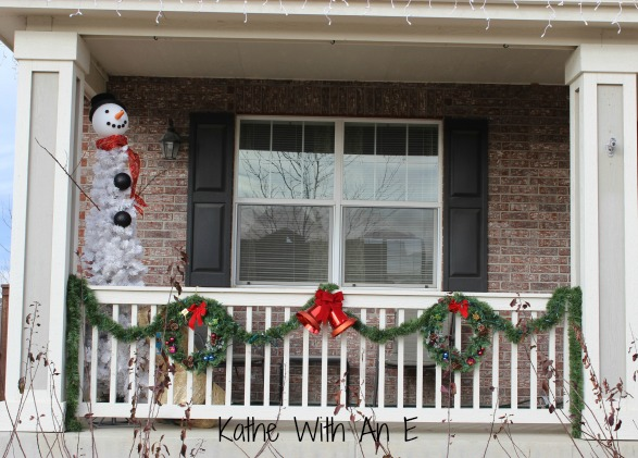 Decorating the front porch for Christmas~Kathe With An E