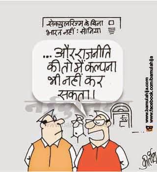 sonia gandhi cartoon, congress cartoon, vote bank cartoon, cartoons on politics, indian political cartoon, secularism cartoon