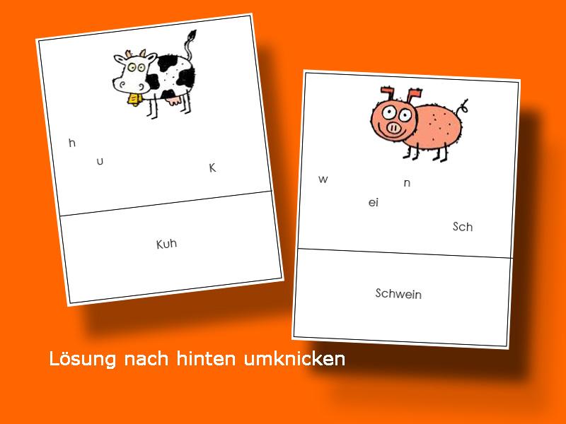 Material für die Freiarbeit in der Grundschule: Rechtschreibrätsel ...