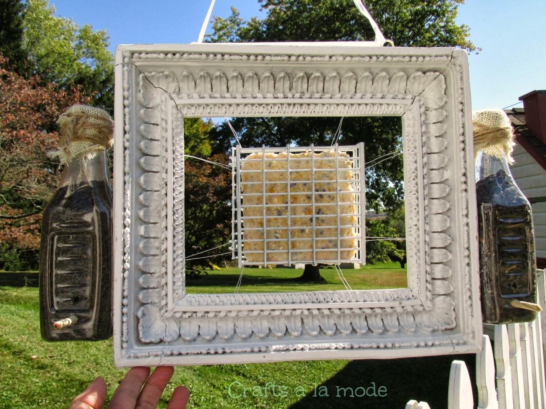 Diy Shabby White Frame Bird Feeder Crafts A La Mode