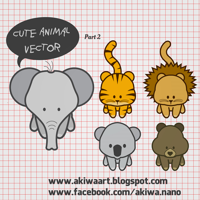 Free Vector Cute Animal Vector Part 2