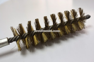 crimped copper wire twist brush. tube brush