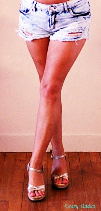 sandales compensées dorées San Marina