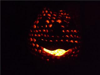 calabaza de ganchillo para la noche de halloween