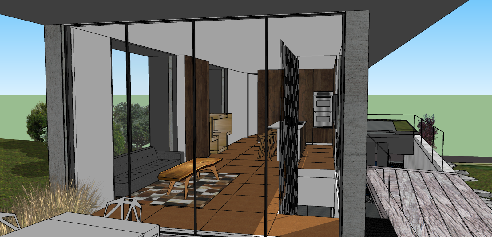 this rendering showing just the glazing gives you an idea of the importance of windows in modern design glazing is also one of the main multi functional