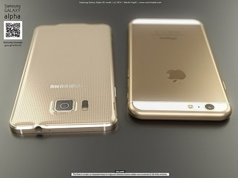 Samsung Galaxy Alpha vs iPhone 6 9