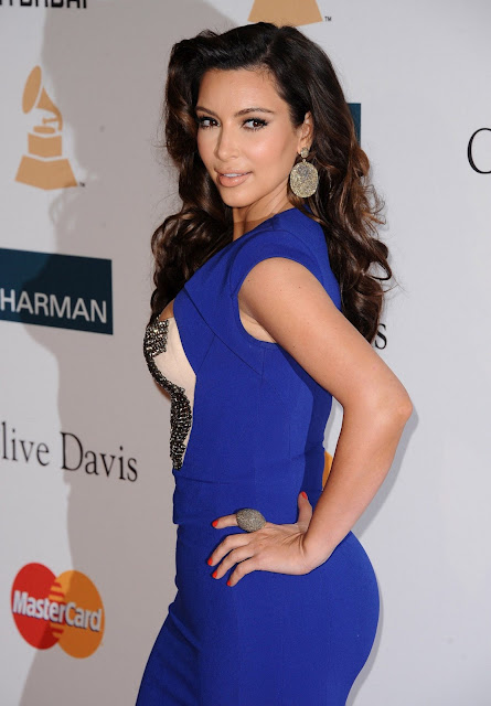 Kim Kardashian in blue Dresses