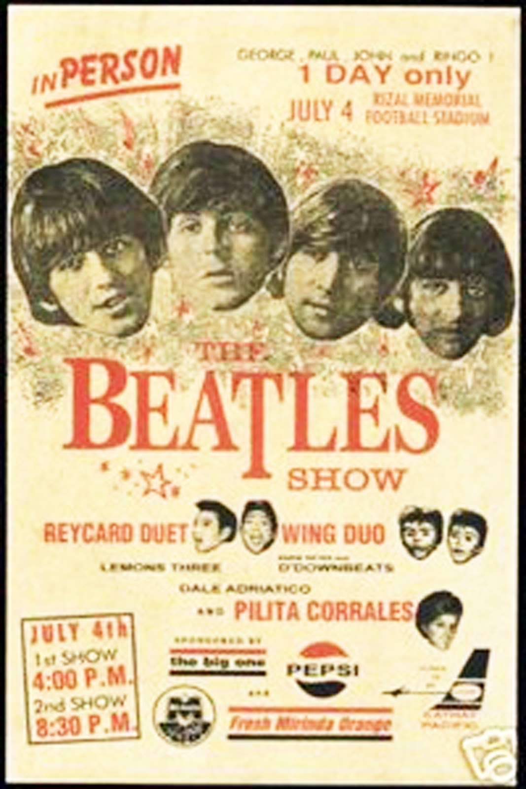 Posters Announcing The Concert