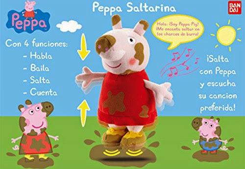 JUGUETES - PEPPA PIG - Saltarina | Peluche Interactivo Producto Oficial | Bandai | A partir de 18 meses
