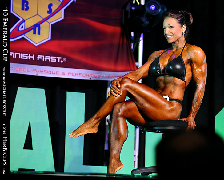 Marga Overby Modeling Her Impressive Calves And Shredded Physique
