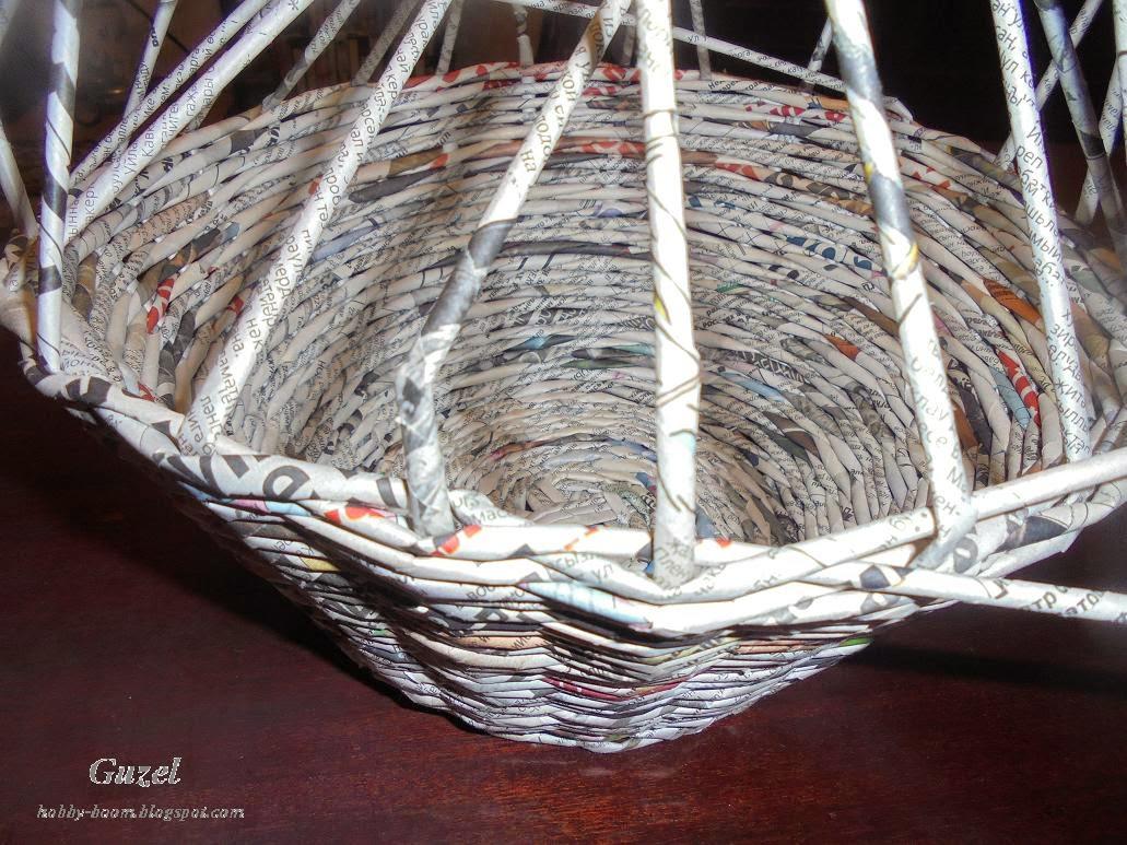 середина плетеной вазы