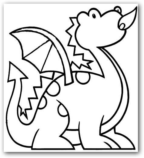 Dibujos para colorear dragones | Dibujos para Colorear