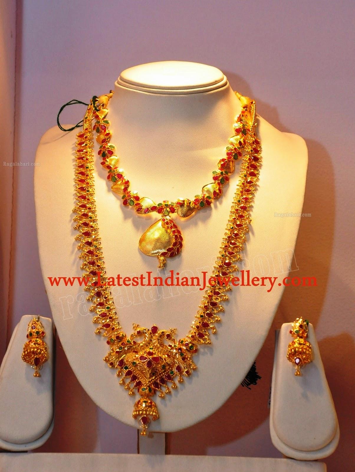 Gold Rubies Muvvala Haram