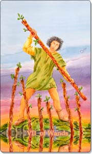 Seven of Wands, www.aquatictarot.de
