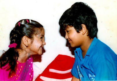 Anushka Childhood Photo with Brother