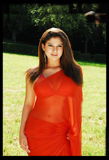 Nayan Thara in red saree