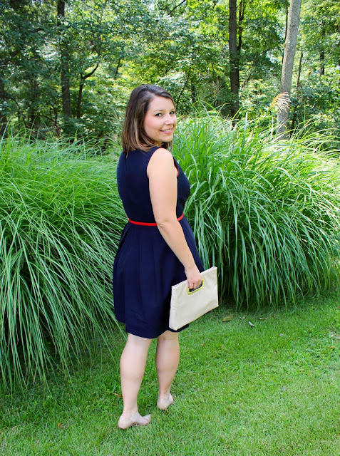 Tommy Hilfiger Navy A line Dress The Peacock Roost