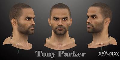 NBA 2K14 Tony Parker Cyberface HD Mod