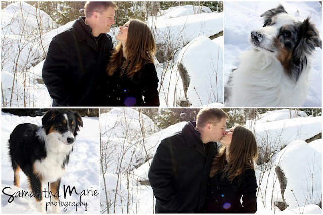 couple kiss in the snow