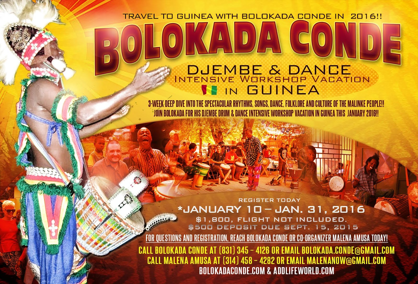 Trip to guinea with Bolokada Conde