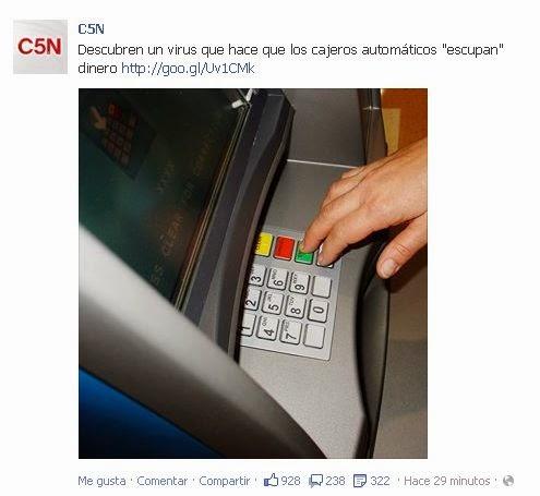 Argentina experimental cajeros que escupen dinero for Busqueda de cajeros