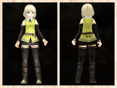 冒険者の服 黄色1 軽量化
