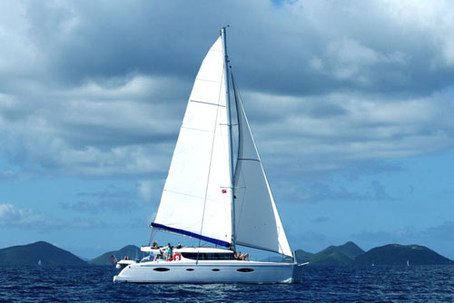 The charter yacht Sweetest Thing is a 48-foot Fountaine Pajot Salina 48 and ...