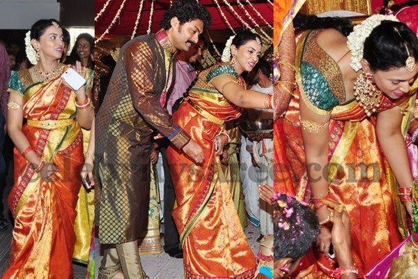 Kalyan Ram wife Bridal Silk Sari