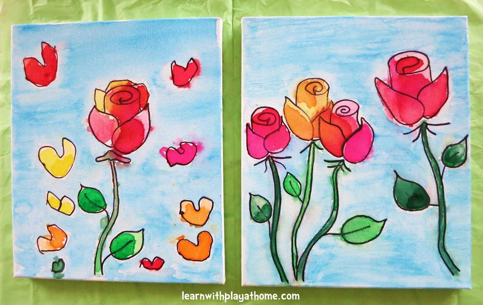 Simple Canvas Paintings For Kids