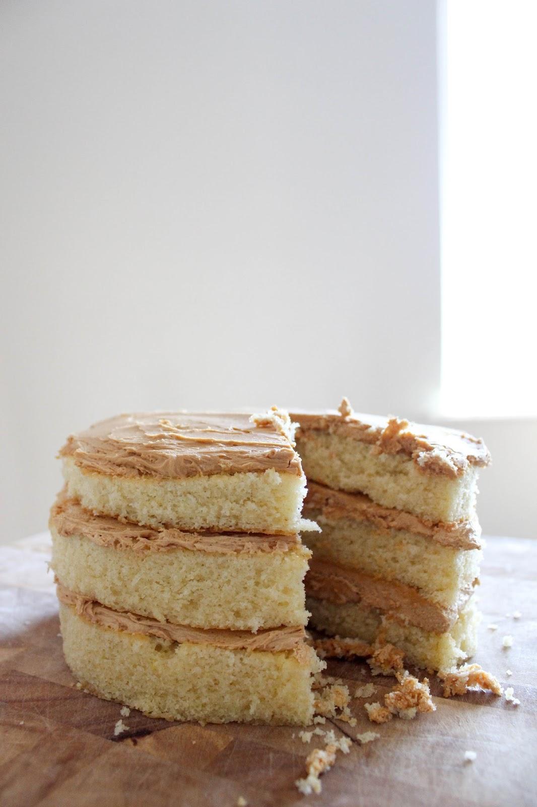 Caramlized White Chocolate Cake
