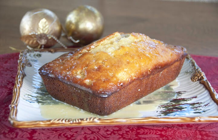Orange-Glazed Eggnog Quick Bread, Wishes And Dishes