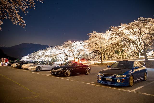 Mazda MX-5, Subaru Impreza WRX STi, japońska motoryzacja, samochody z Japonii, zdjęcia w nocy
