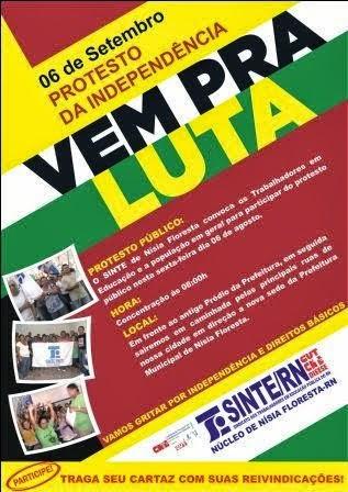 06 DE SETEMBRO- PROTESTO DA INDEPENDENCIA.