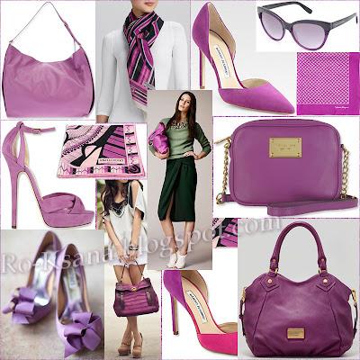 Мода модные аксессуары одежда палитра Сияющая Орхидея Radiant Orchid цвет года 2014 модные украшения дизайн подарки женщине подарок девушке