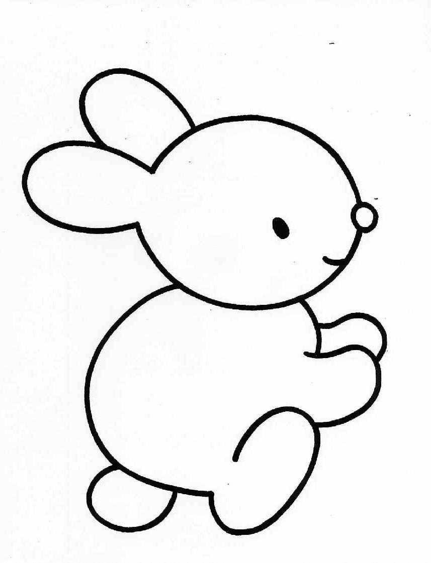 colorir desenhos Coelhinhos da Páscoa