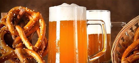 Coisas proibidas nos EUA - Pretzels e Cerveja servido juntos