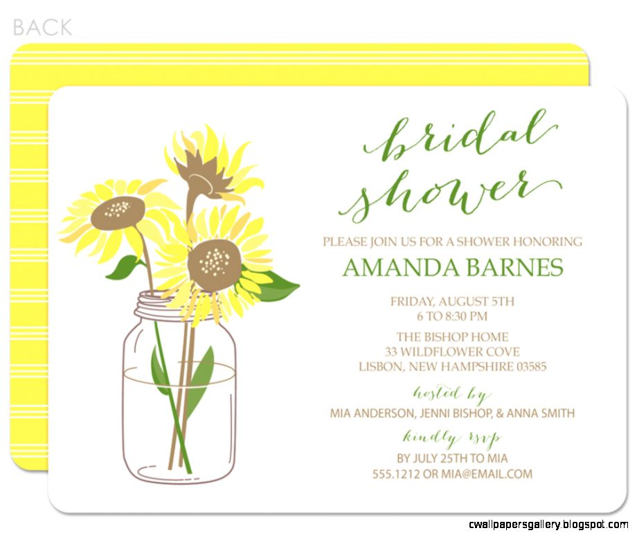 Sunflower Baby Shower Invitations   Baby ideas