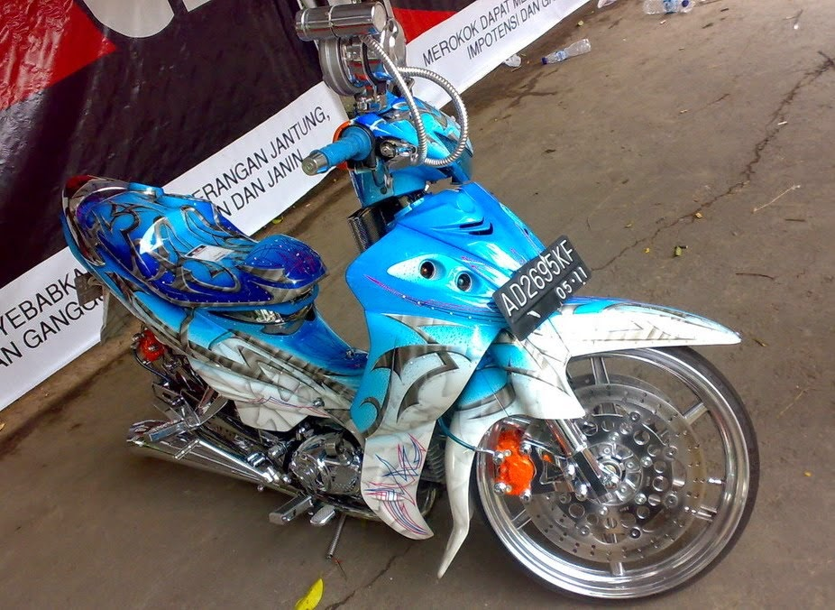 Foto Modifikasi Air Brush Yamaha Jupiter Z Terbaru