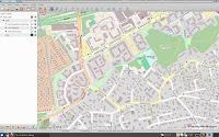 [Image: Screenshot of Viking showing a crosshair over OpenStreetMap.]