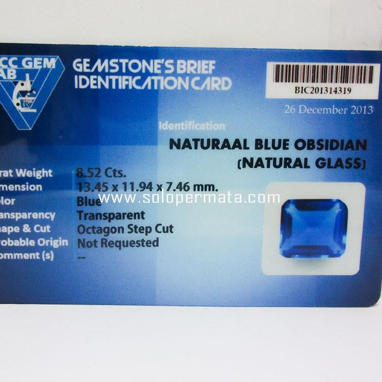 Batu Permata Blue Obsidian - 22A05 + Memo