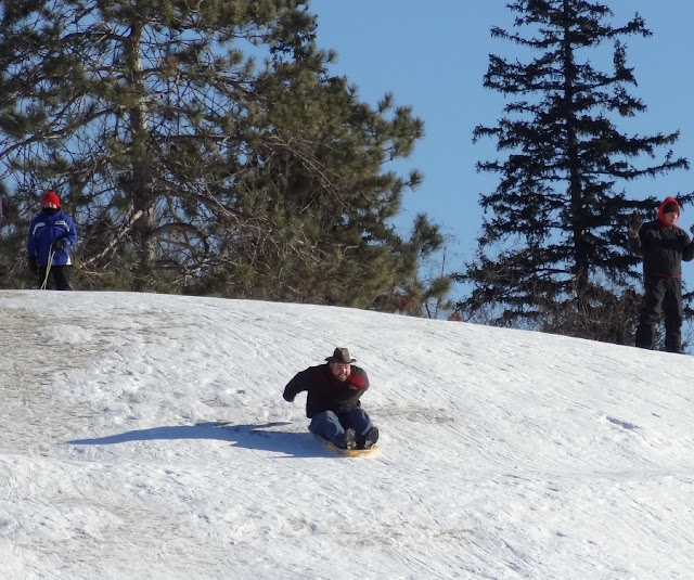 Hayford_Park,sledding_hill,Bangor,Maine,cowboy,winter