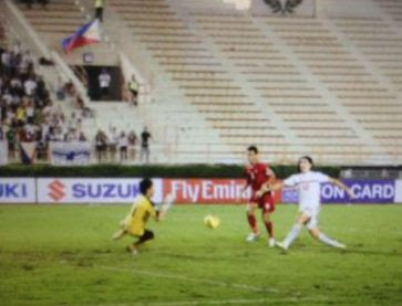 The goal from Angel Guirado sealed Azkal's ticket to the AFF Suzuki Cup Semi-finals