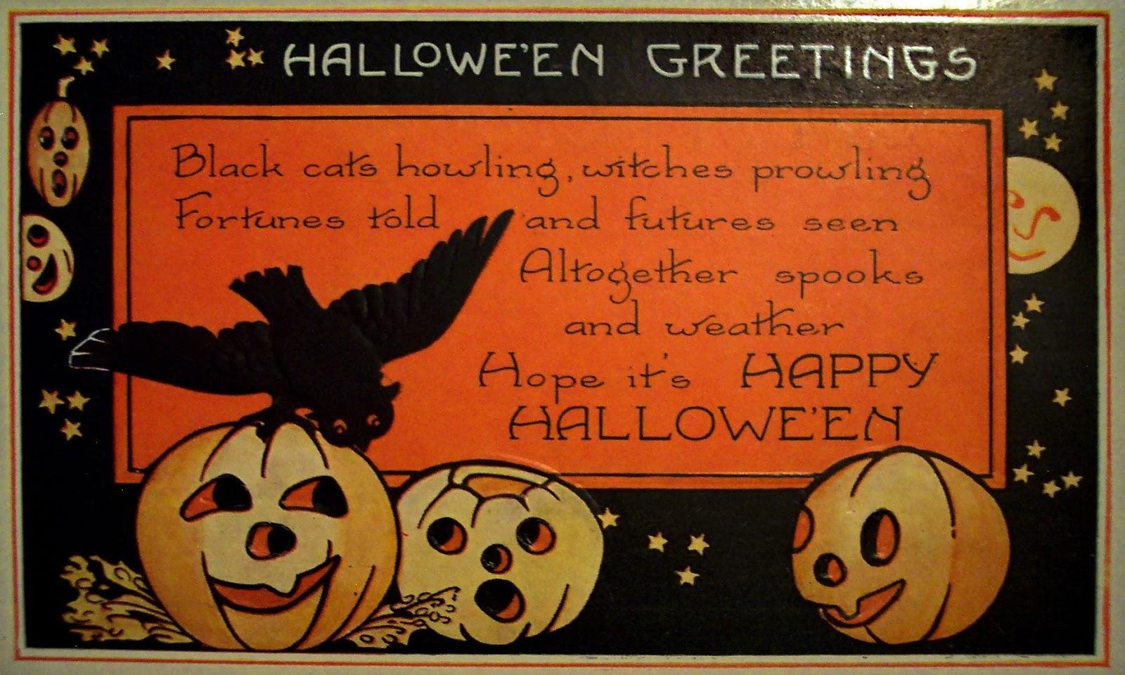 Halloween card greetings