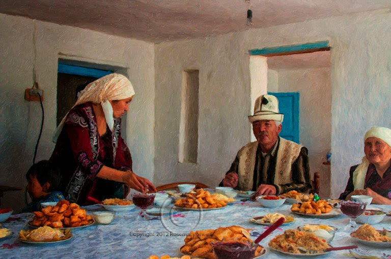 kyrgyz yurt makers, yurt decoration, kyrgyz textile tours