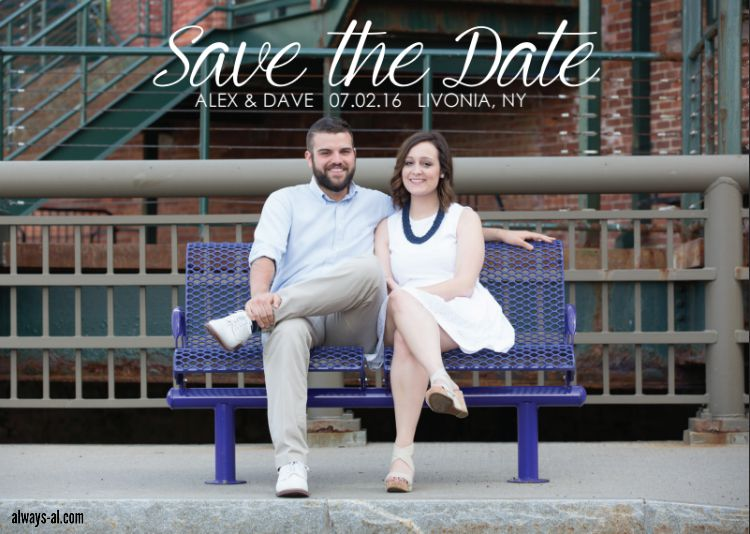 Alex and Dave Wedding Save the Date