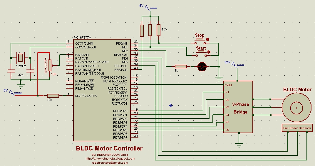 electronics note cd rom brushless dc motor control