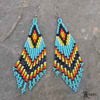 seed bead earrings native american style turquoise blog beaded