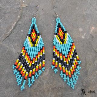 seed bead earrings native american style turquoise blog beaded