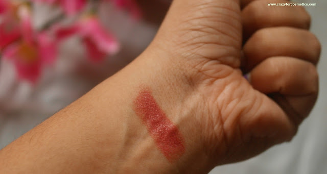 swatches of colorbar velvet matte lipstick in 58 bare
